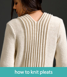 How to knit pleats