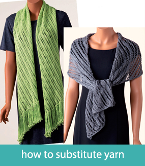Substituting yarns