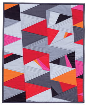 Elongated Triangles quilt