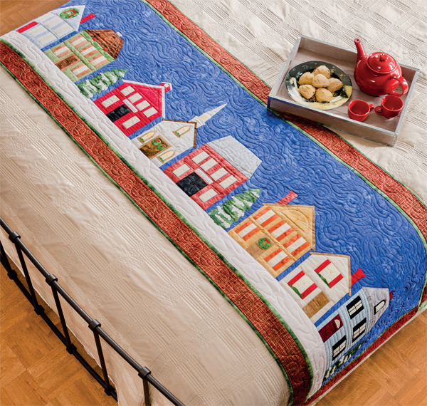 Home for Christmas Bed Runner