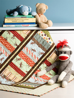 Monkey in the Middle quilt