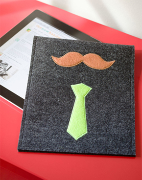 Mustachioed Man tablet case