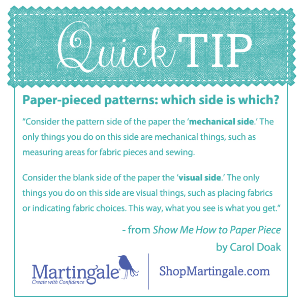 Quick tip: paper-piecing patterns