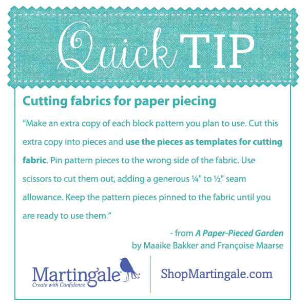 Quick tip--templates for paper piecing