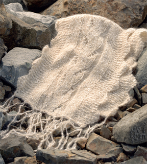 Cabled wrap from Knitted Scarves