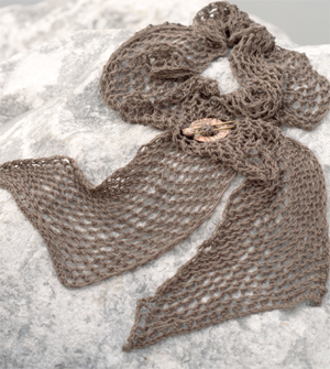 Fishnet scarf from Knitted Scarves