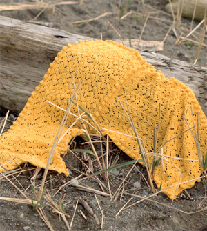 Goldfish tail scarf from Knitted Scarves