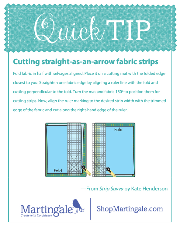 Quick tip: cutting straight fabric strips
