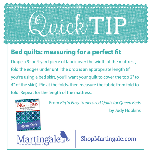 Quick tip: measuring bed quilts