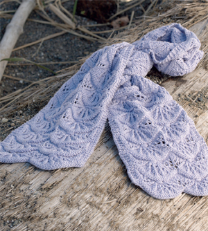 Scallop shell scarf from Knitted Scarves