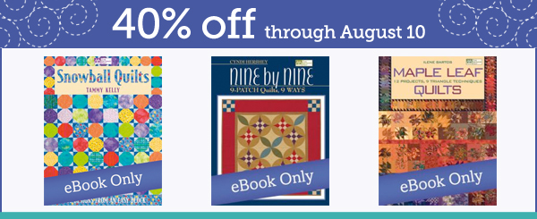 Select eBooks 40% off this week!