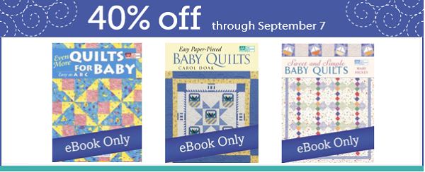 Easy baby quilt patterns - eBooks on sale