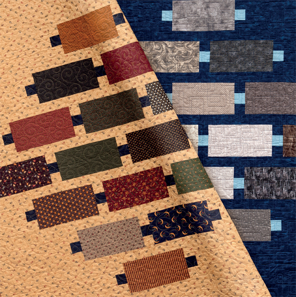 Morse Code quilts from Fabric Play