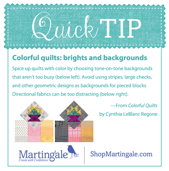 Quick tip--brights and backgrounds
