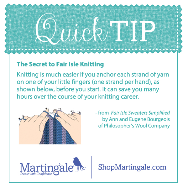 Knitting tip for easy Fair Isle knitting - Stitch This! The ...