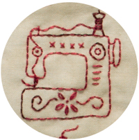 Sewing-machine motif from Patchwork Loves Embroidery