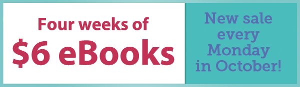 $6 eBooks during the month of October!