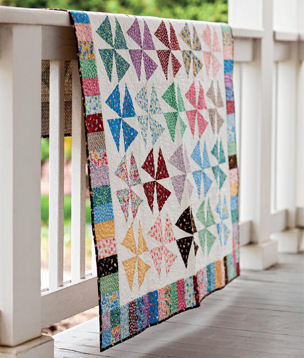 Spin City quilt by Nancy Mahoney