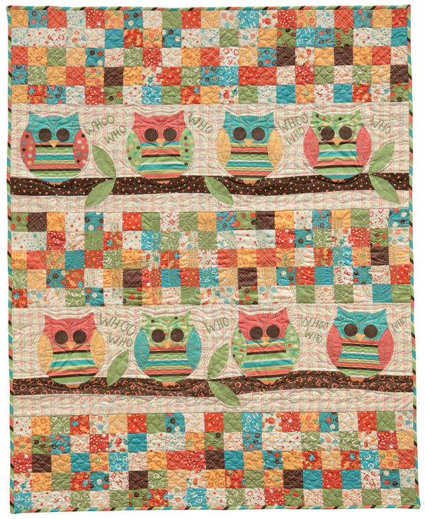Whoo's Your Baby? quilt by Karen Costello Soltys