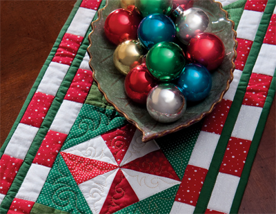Detail of Peppermint Candy Table Runner