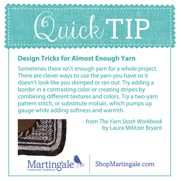Quick Tip for yarn stashes