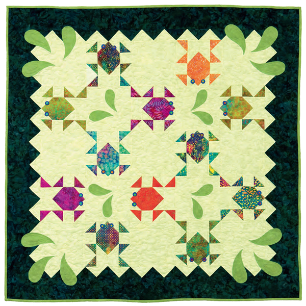 Frog Quilt: Skip Triangle Math With Strips: Try Twosey Foursey