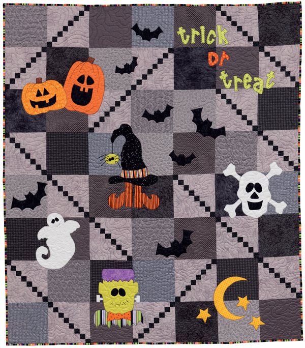 Step into Halloween quilt