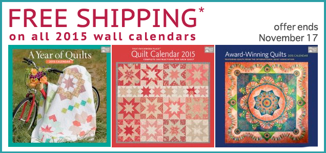 Free shipping on 2015 wall calendars