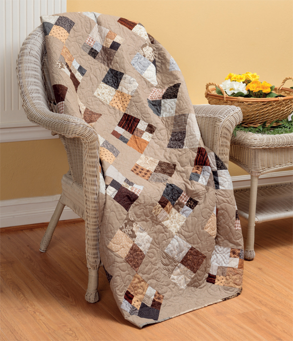 Cobblestones quilt from Knockout Neutrals