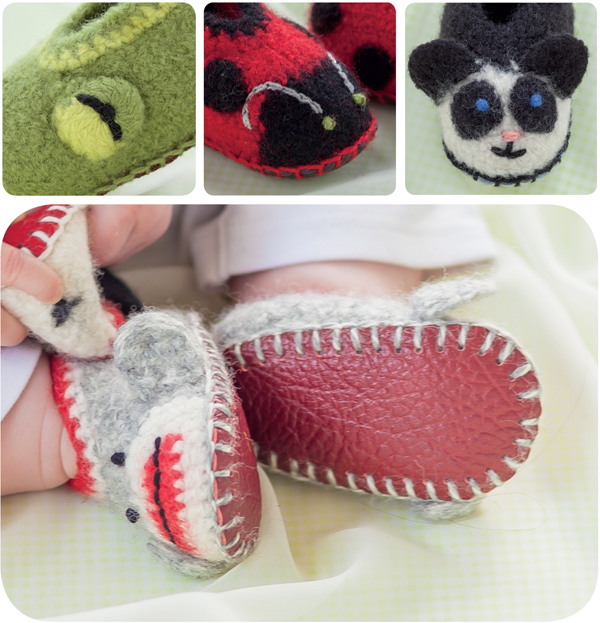 Crocheted shoes from Cozy Toes for Baby
