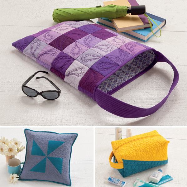 Projects from Free-Motion Quilting for Beginners