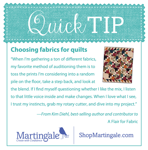 Quick quilting tip from Kim Diehl