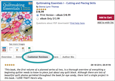 Review of Quiltmaking Essentials 1