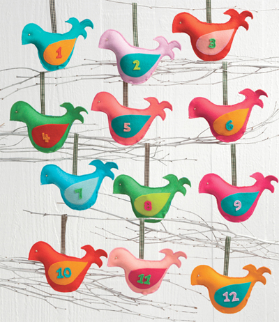 Bird ornaments from Sew Merry and Bright