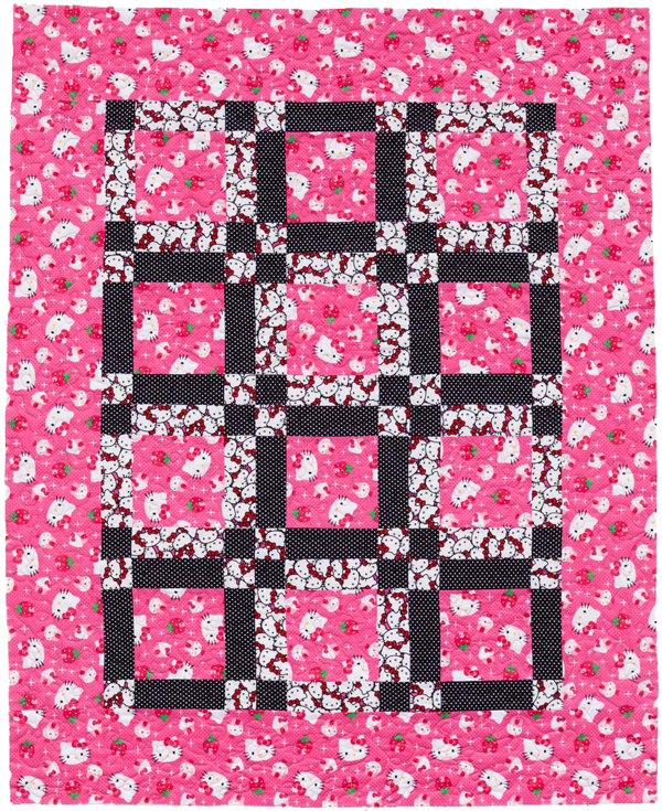 Simple Patch baby quilt by Cornelia