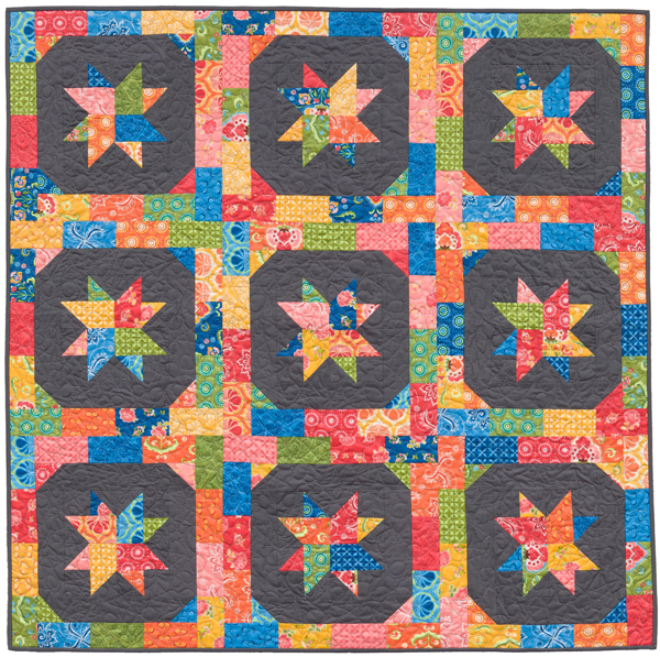 Star Blossoms quilt by Kara