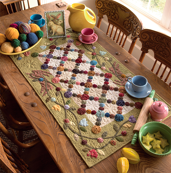 Tulips and Tossed Greens table runner