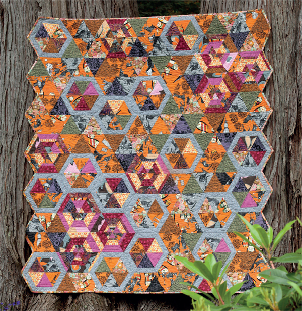 Hexagon Scramble quilt