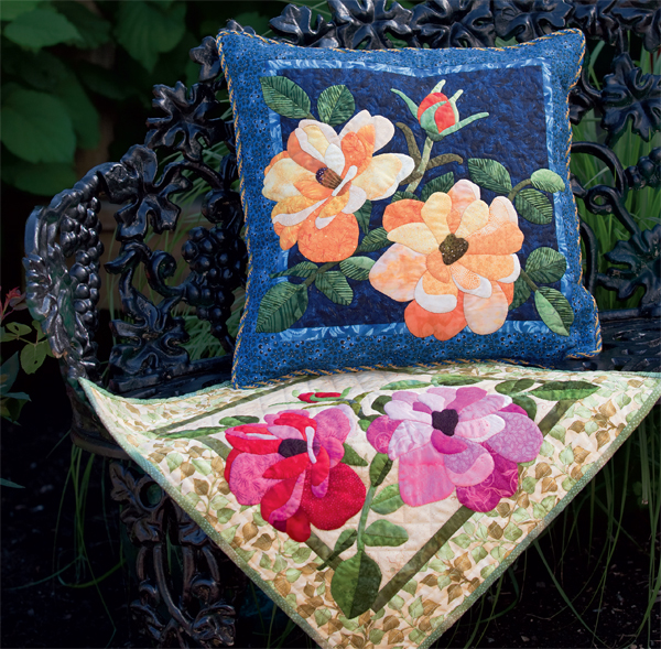 Quilt and pillow from Beautiful Blooms