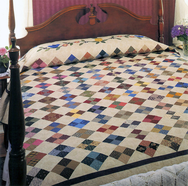 How to make a king size quilt quicker 4 strategies for Bed quilting designs