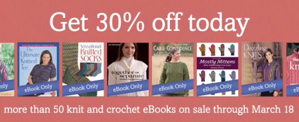 Knit and crochet eBooks on sale