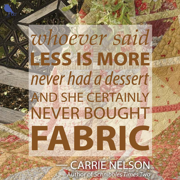 Free Printable Quilting Quote For Fabric Lovers Only