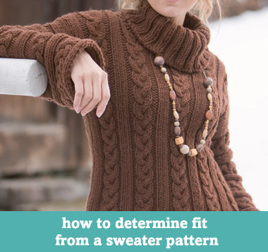 How to determine fit from a sweater pattern