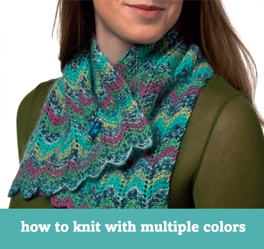 How to knit with multiple colors