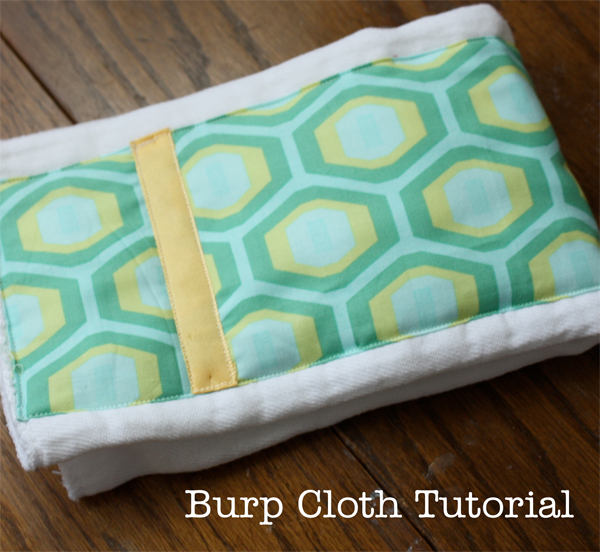 Burp-cloth tutorial by Amy Smart