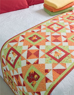 Peekaboo Daisy bed runner