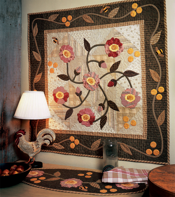 Rambling Rose quilt and table runner