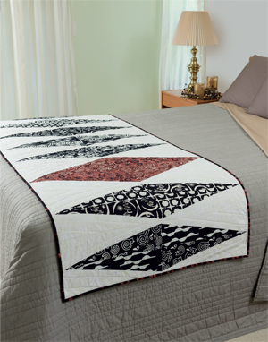 Solitaire bed runner