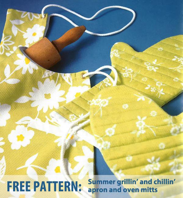 Apron and oven mitts free patterns
