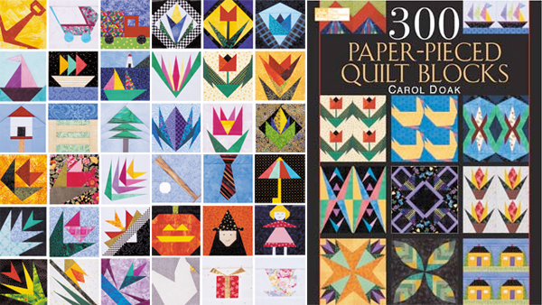 From 300 Paper-Pieced Quilt Blocks